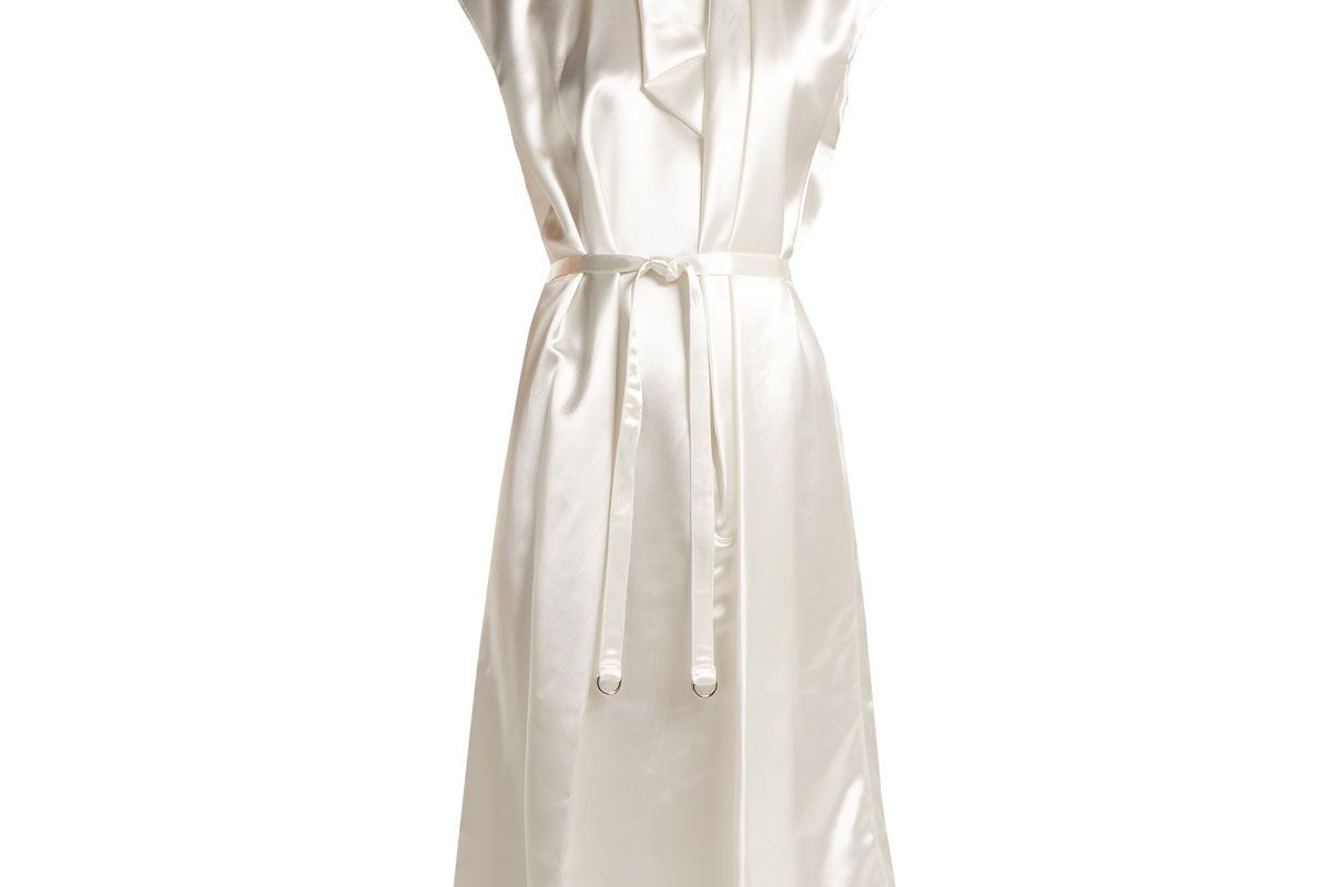 lemaire round neck satin dress