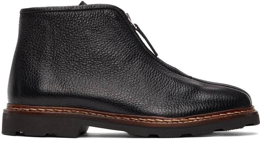 lemaire zipped leather ankle boots