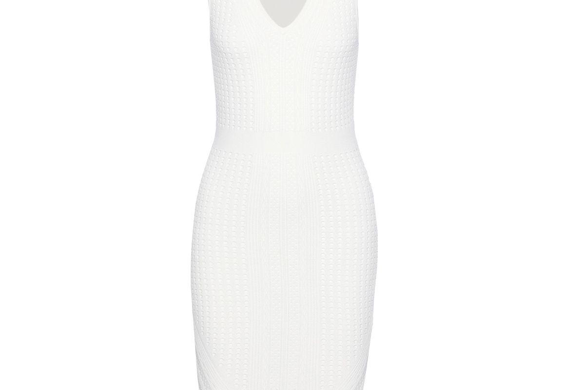 line spencer pointelle knit mini dress