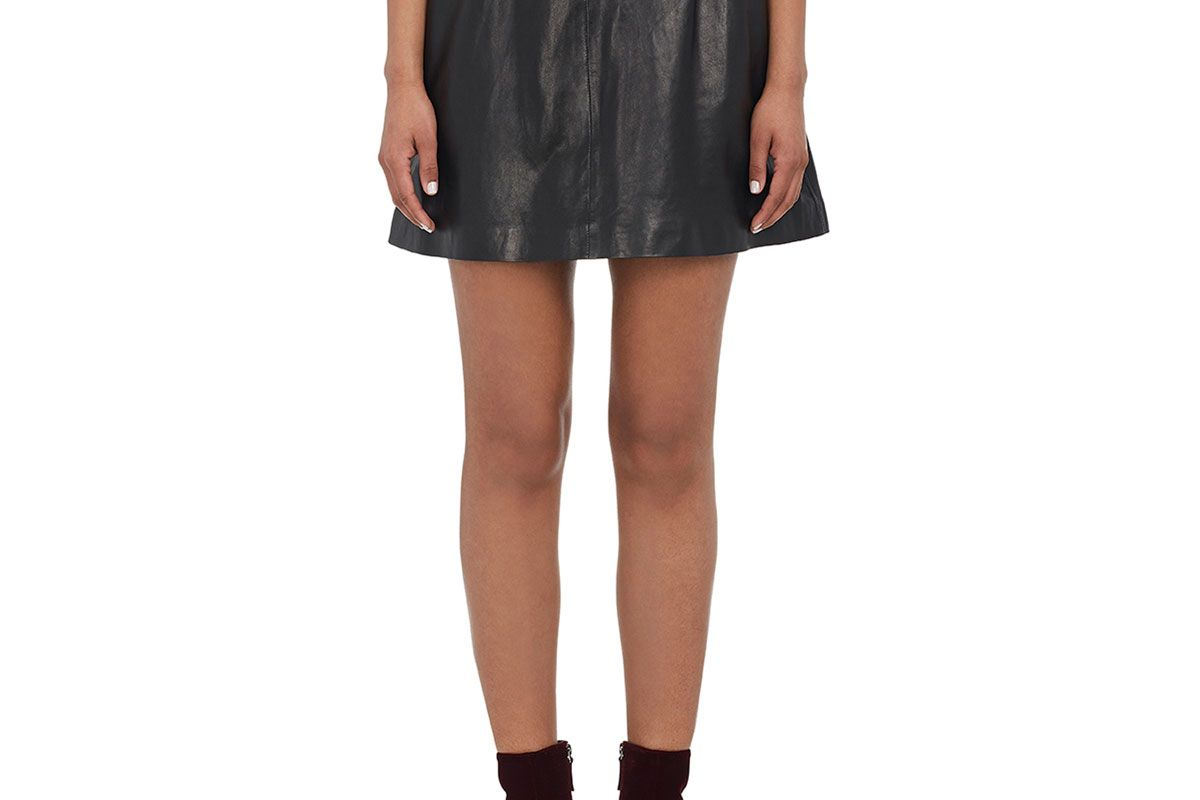 lisa perry paper bag leather skirt