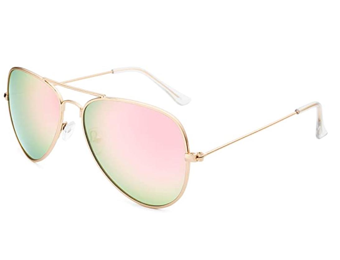 livho polarized metal mirror aviator sunglasses