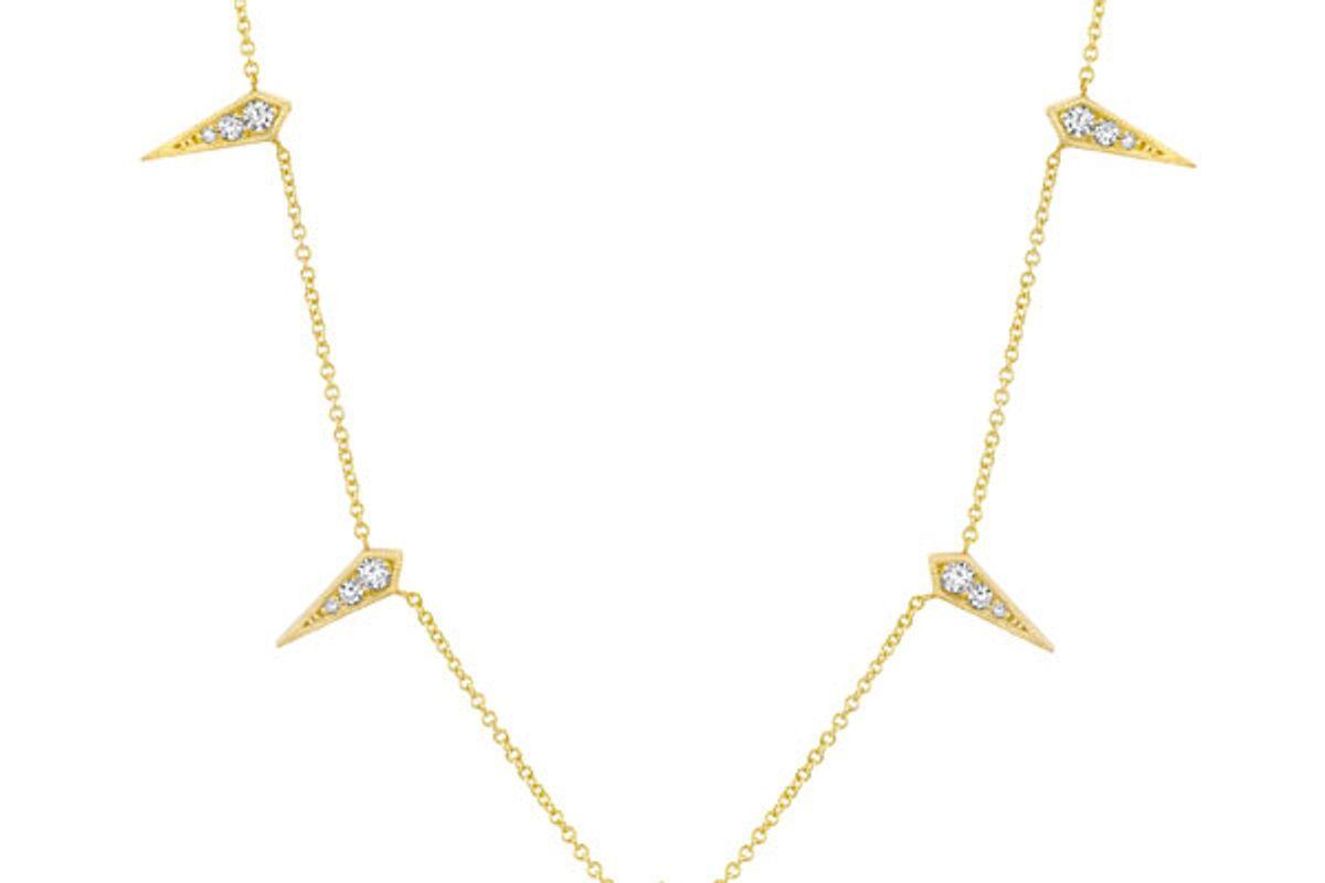 Five Kite Necklace with White Diamonds