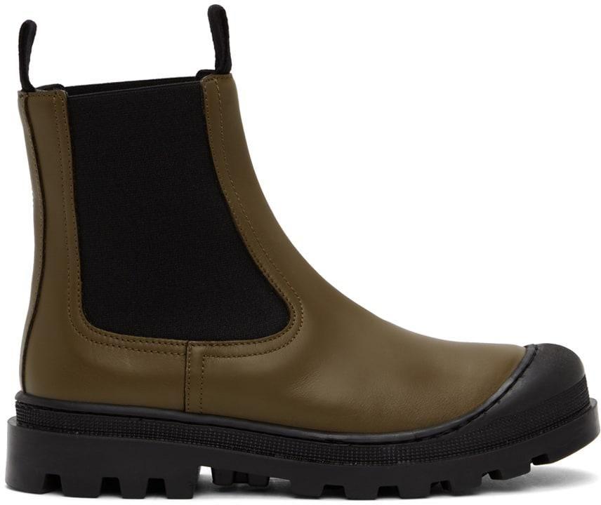 loewe calfskin chelsea boots