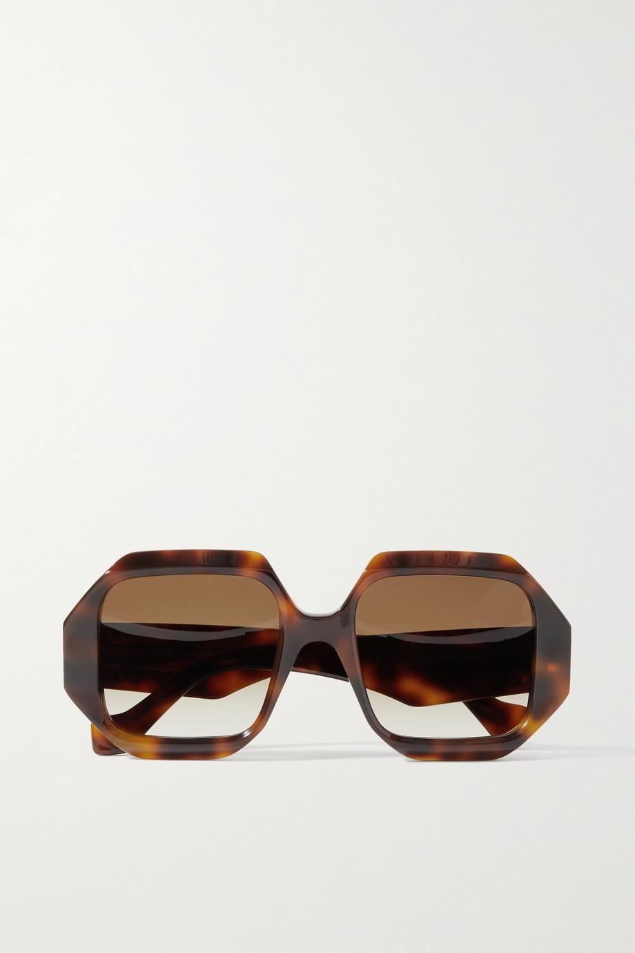 loewe octagon frame tortoiseshell acetate sunglasses