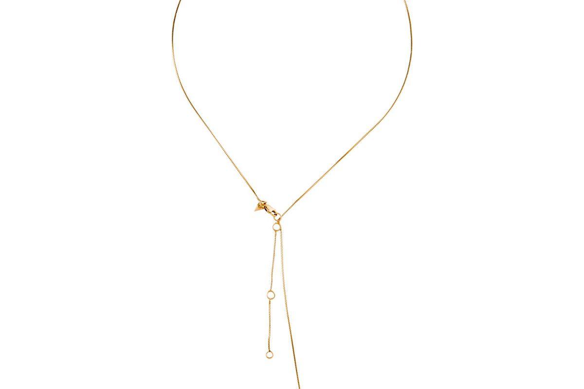 loren stewart 14k diamond lavalier necklace