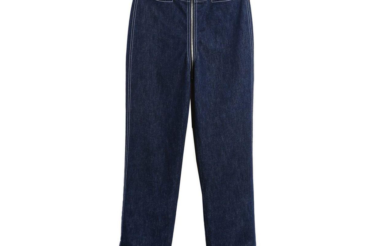 Zip-through Pants in Denim