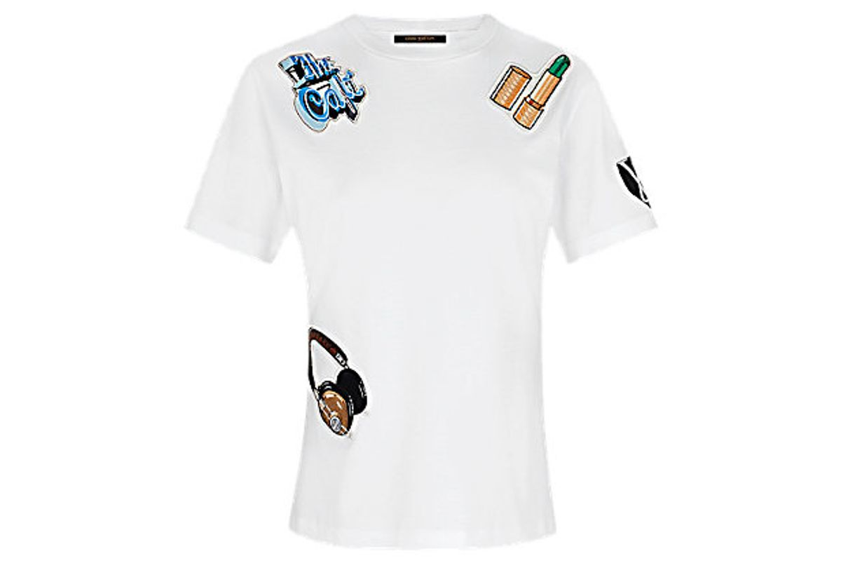 Jersey T-shirt with Embroidered Patches