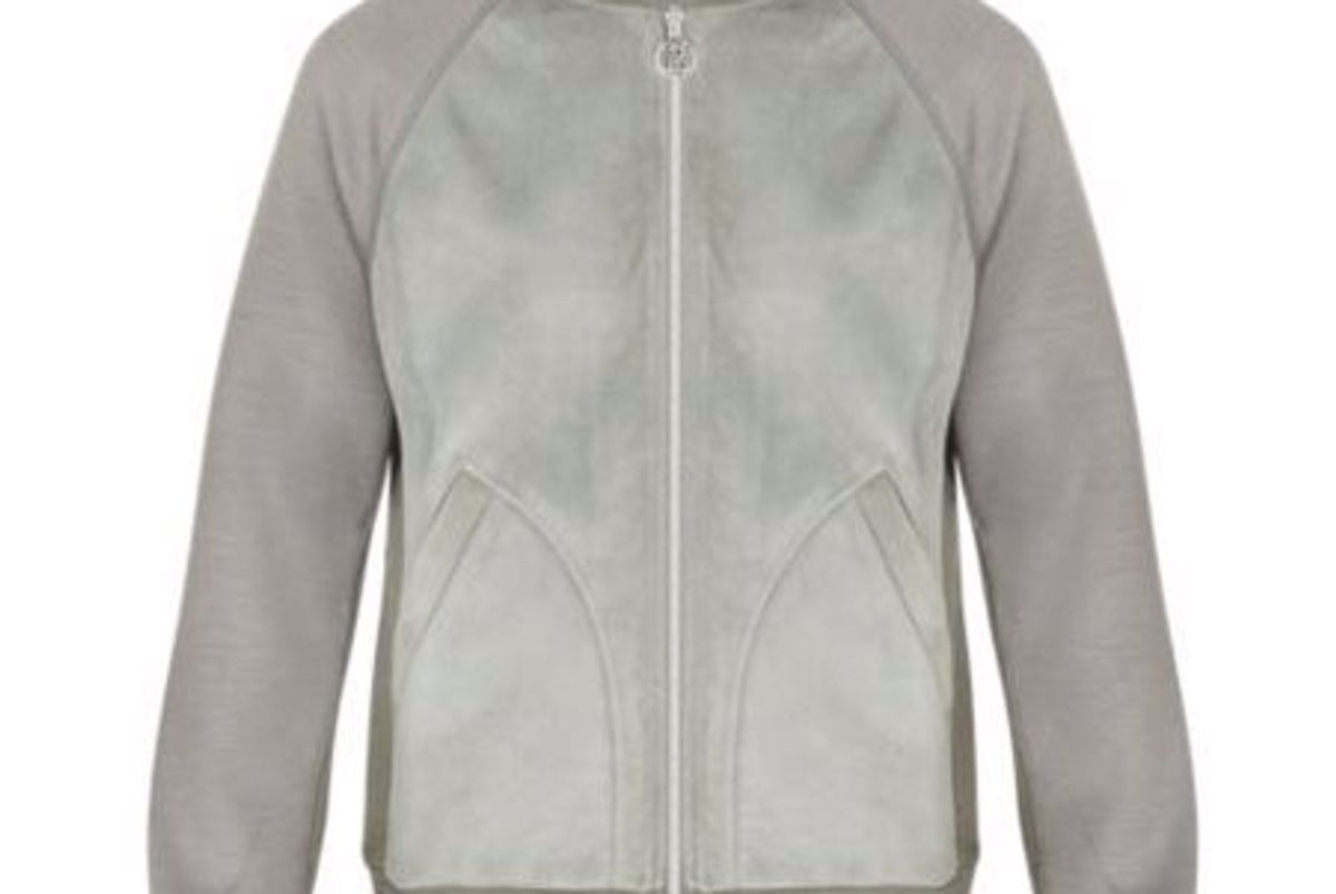 Leather Front Bomber