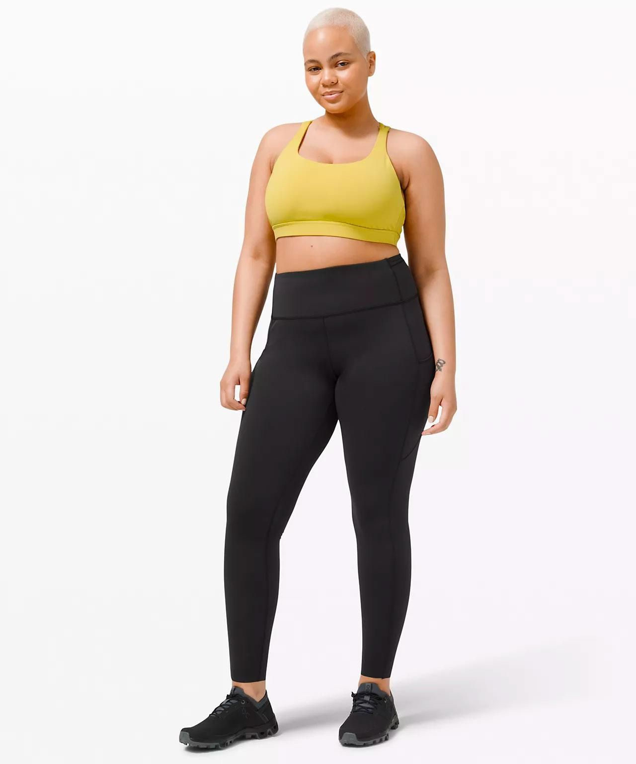 lululemon fast and free high rise tight 28 brushed nulux