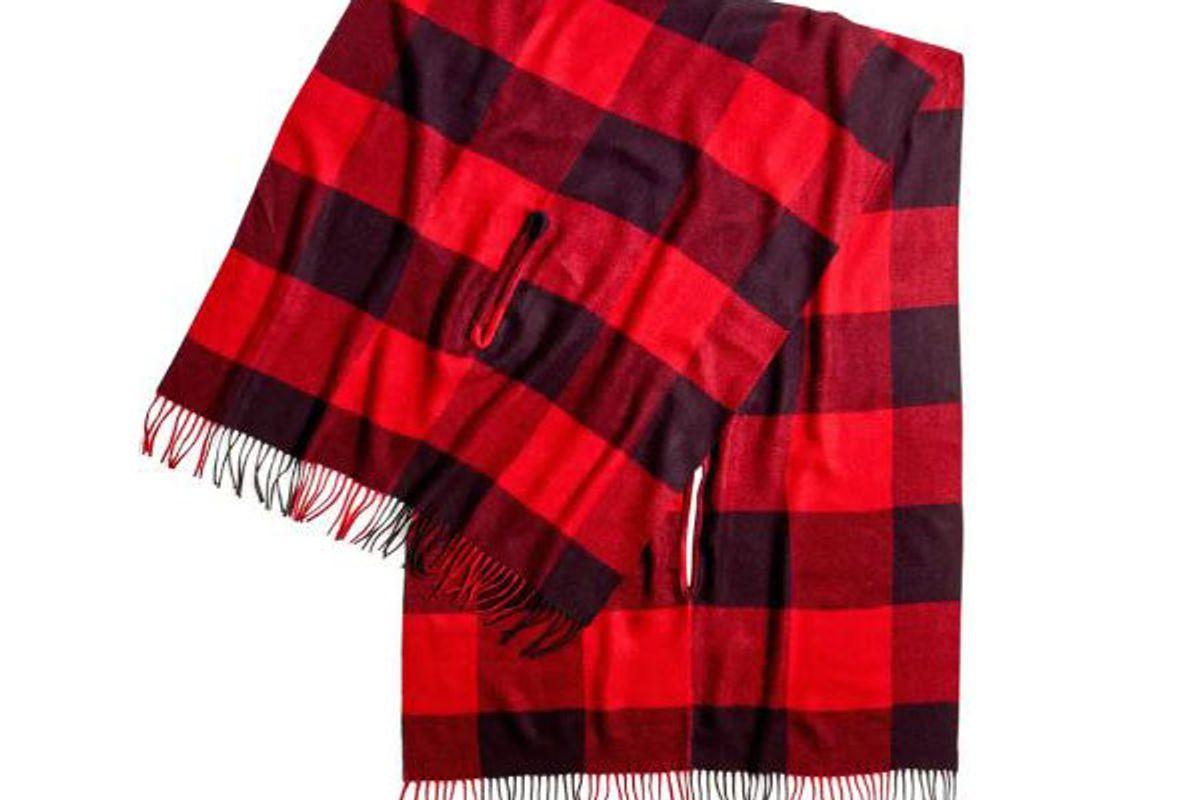 madewell buffalo check cape scarf