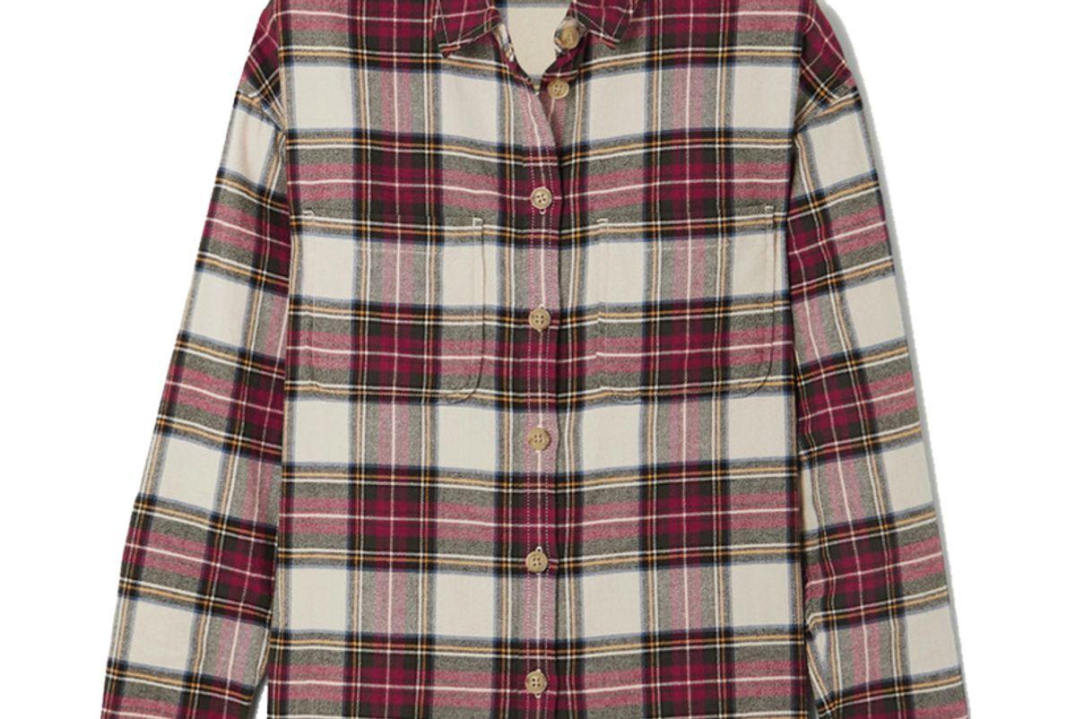madewell tartan cotton flannel shirt