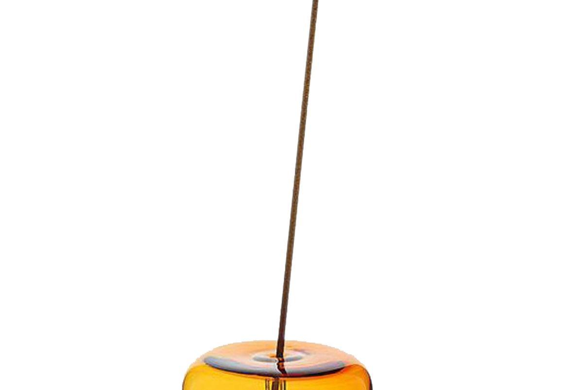 maison balzac glass bubble incense holder