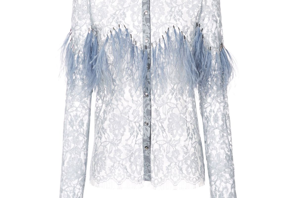Lace Feather Blouse