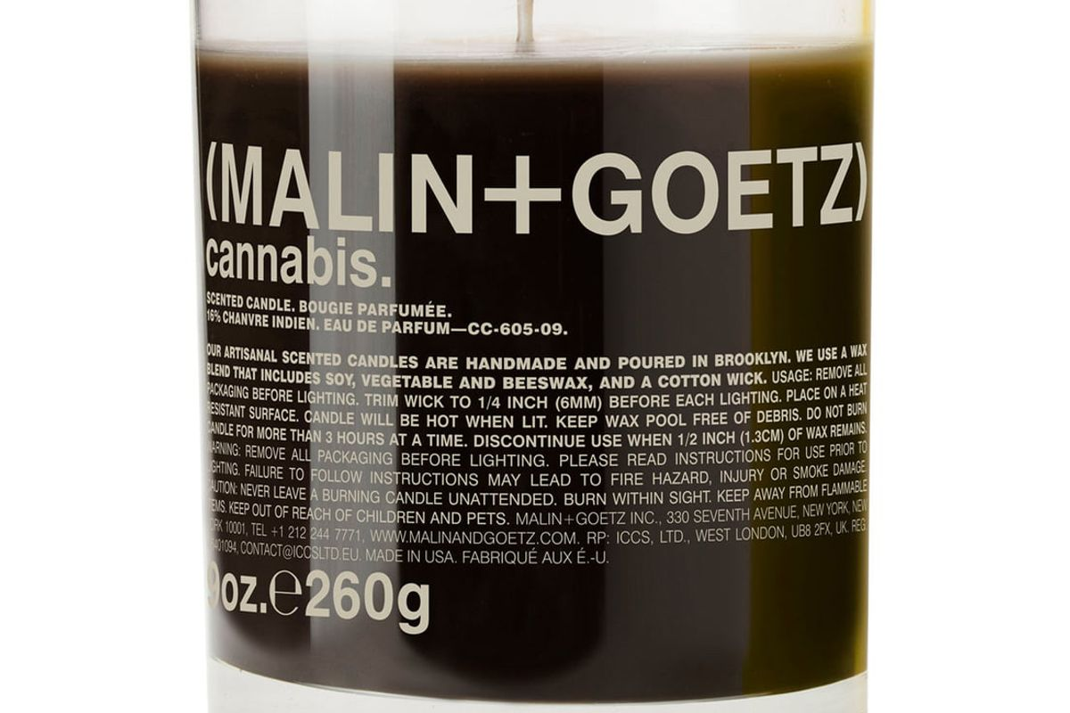 malin and goetz cannabis candle