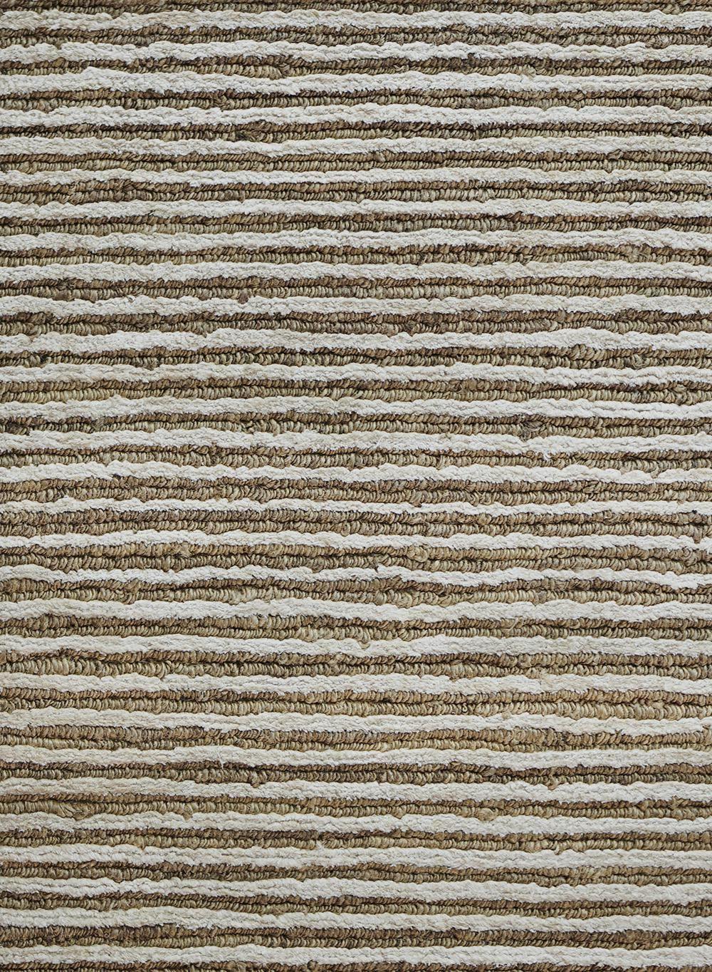 mansour modern ribbed hemp and silk rug