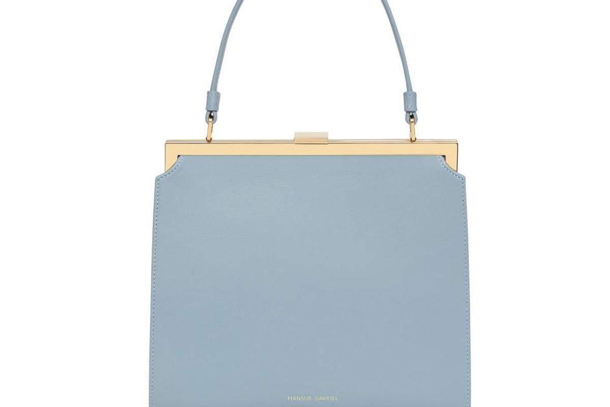 mansur gavriel calf elegant bag grey blue