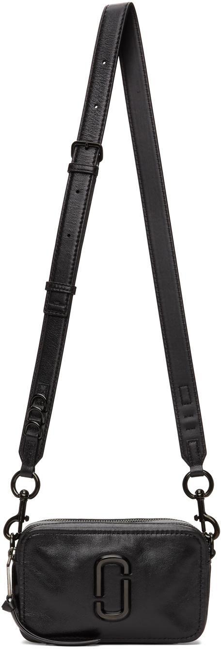 marc jacobs black the snapshot dtm shoulder bag