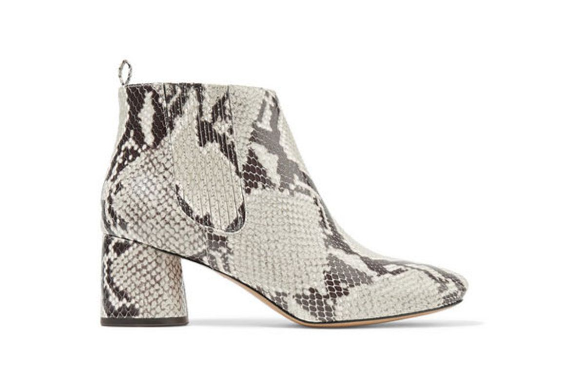 marc jacobs snake effect leather ankle boots