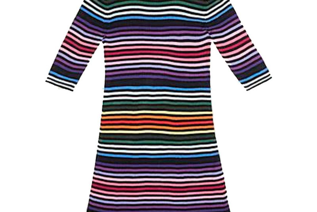 Stripe Core Cotton Short-Sleeve Dress