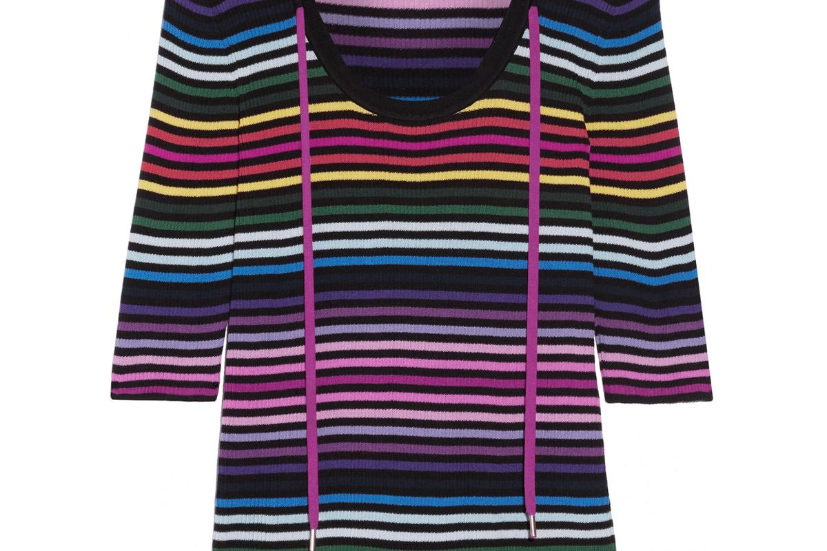 Striped Ribbed Cotton Top