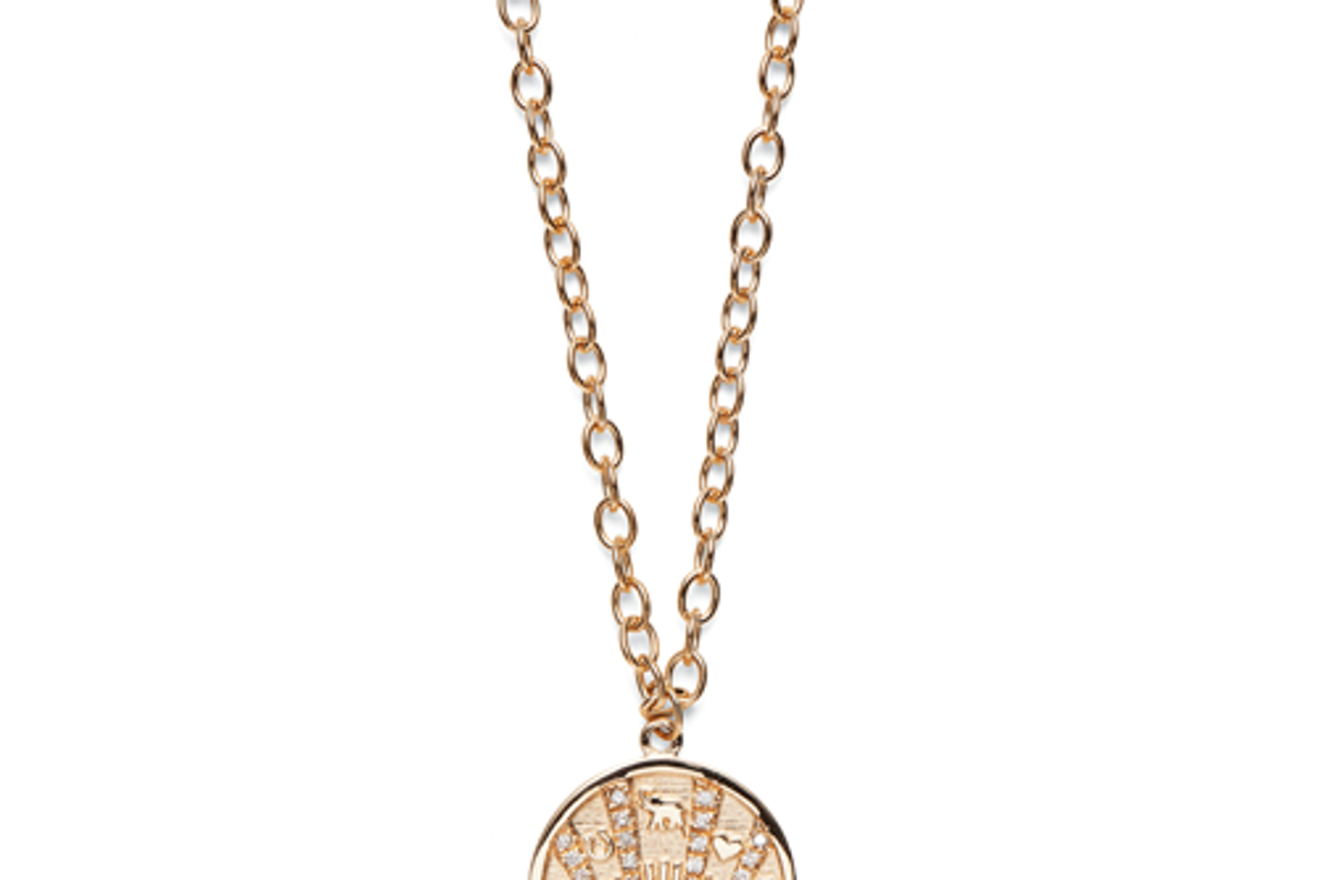 maro laz talisman coin necklace