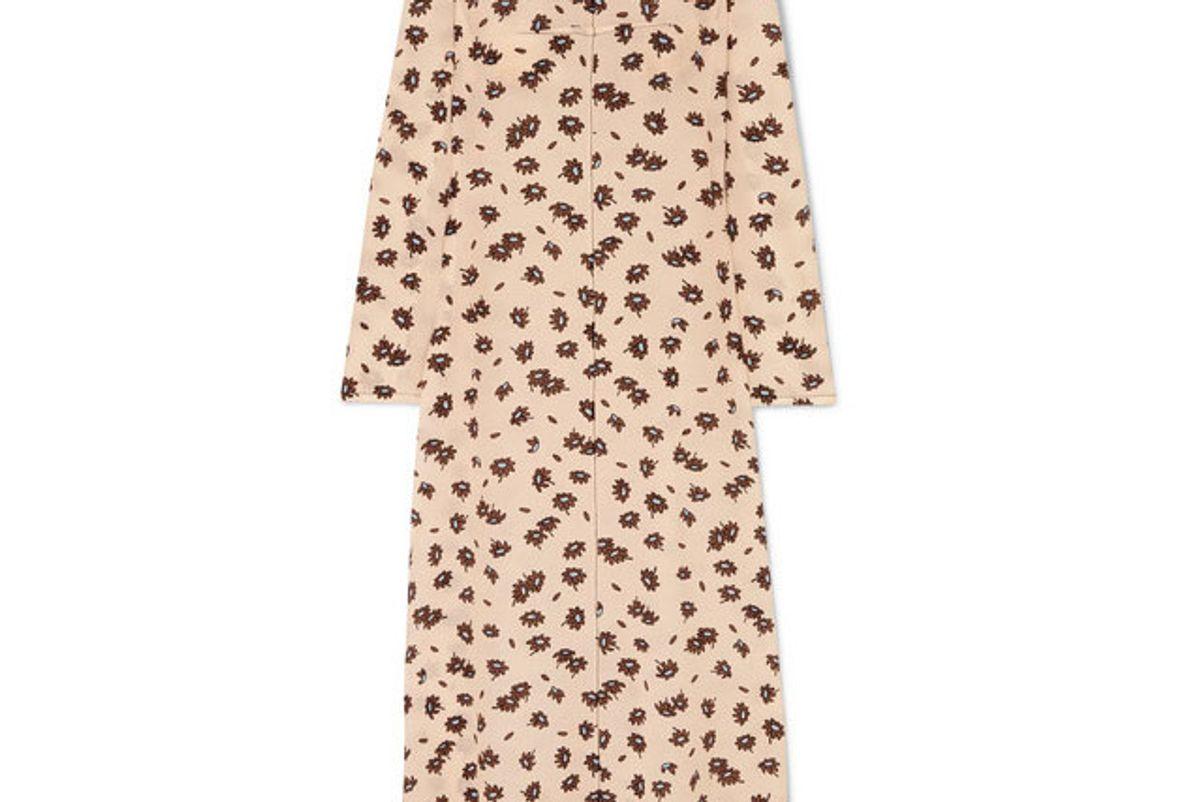 marni floral print silk blend crepe maxi dress