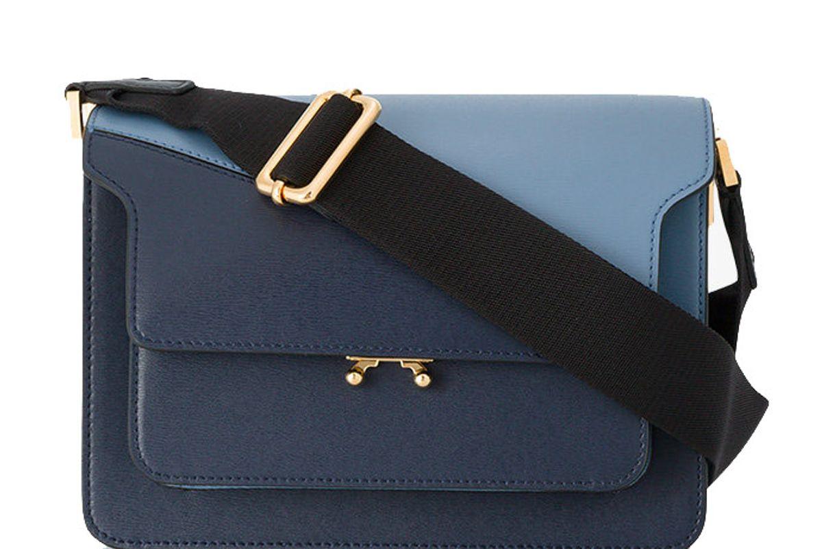 Blue Medium Trunk Shoulder Bag