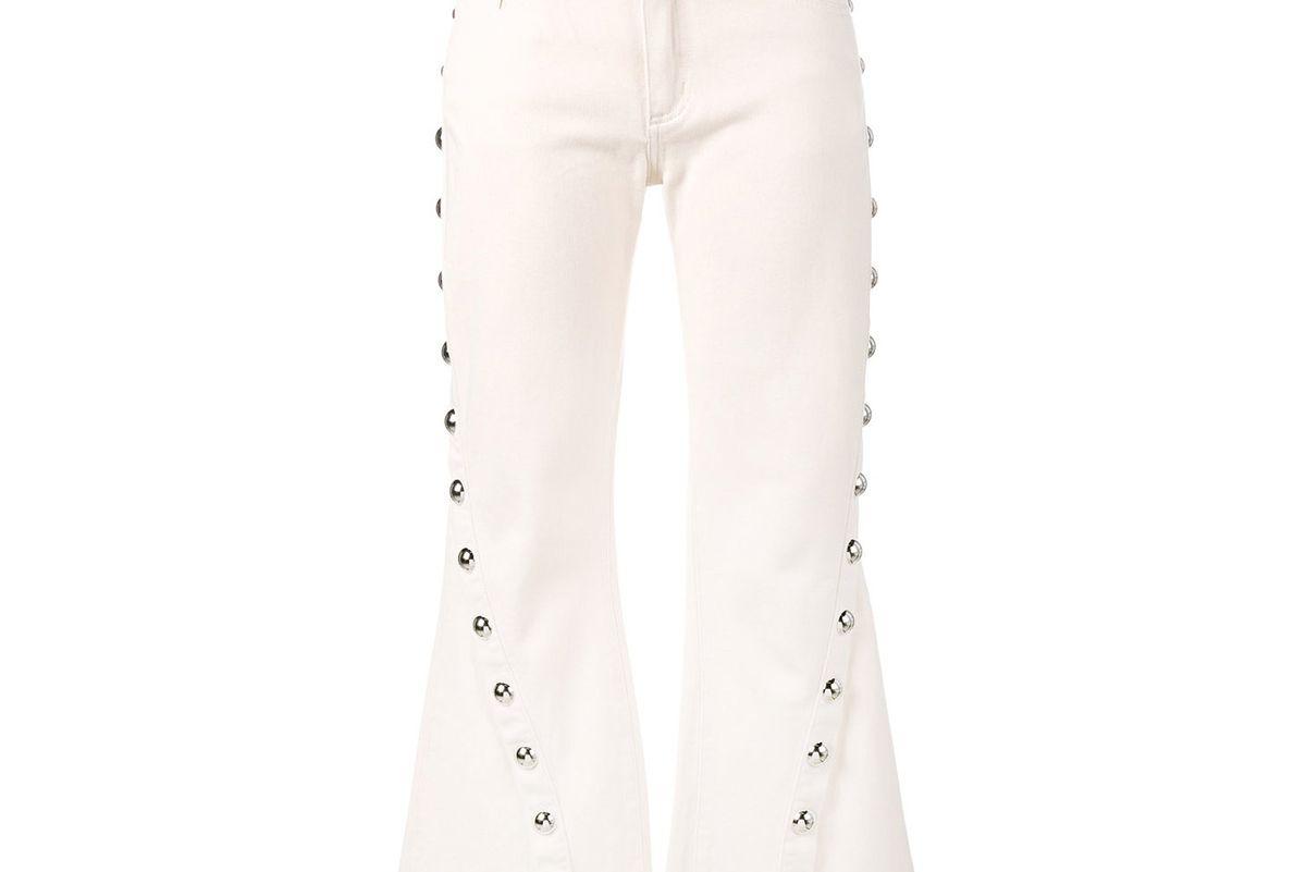 Capri Buttoned Jeans