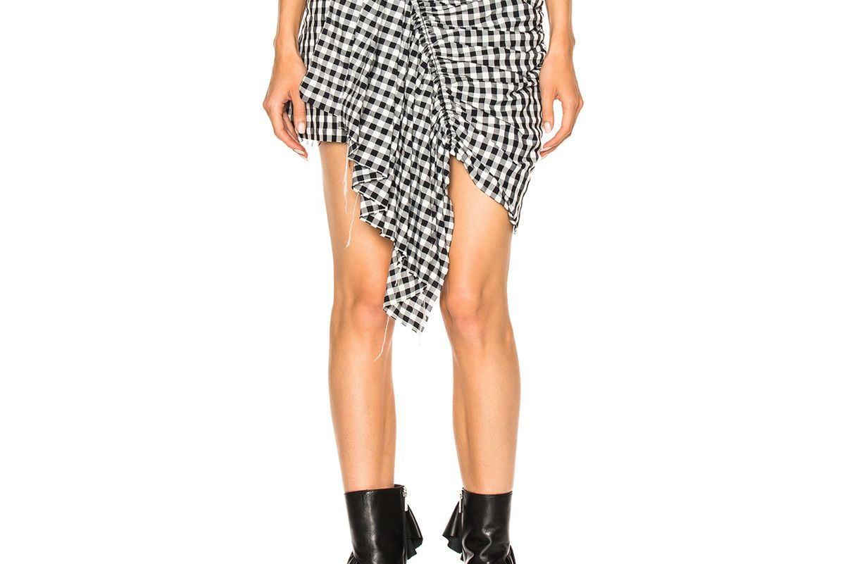 Shirting Front Gathered Skirt