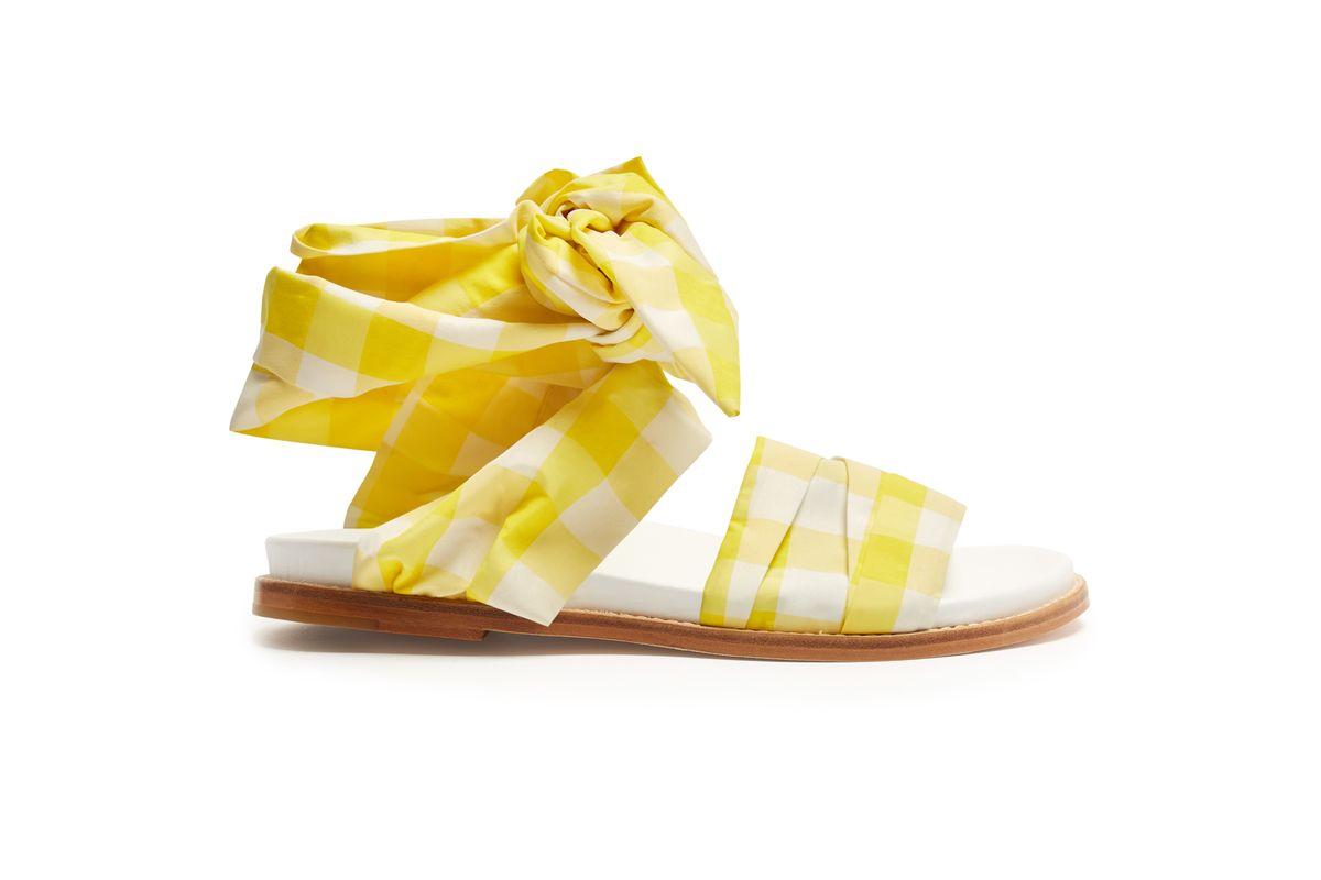 Wraparound Gingham Sandals
