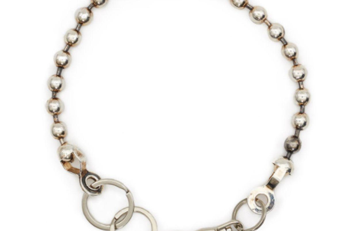 martine ali broken ball chain necklace