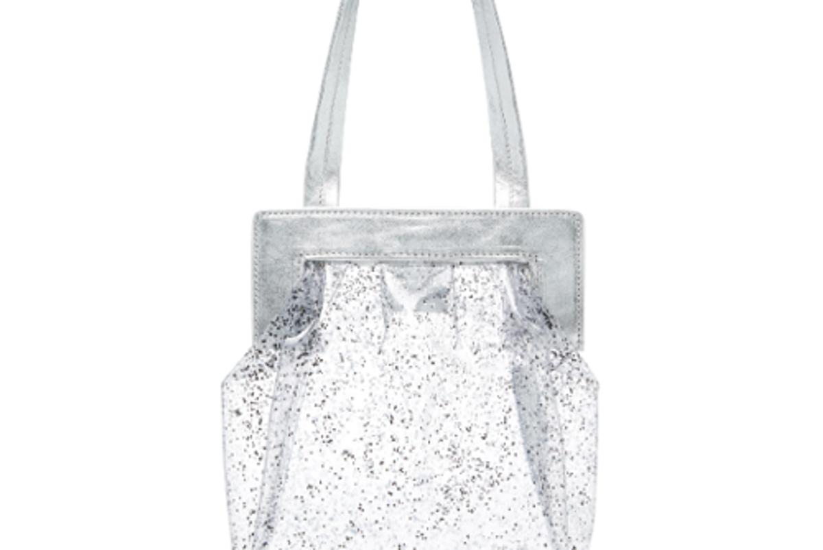maryam nassir zadeh glittered pvc shoulder bag