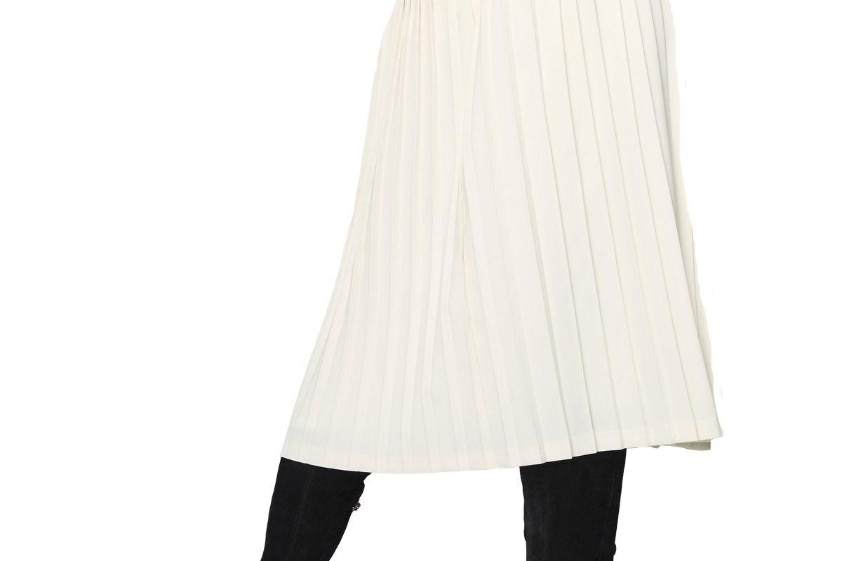 Ecru Pleated Skirt