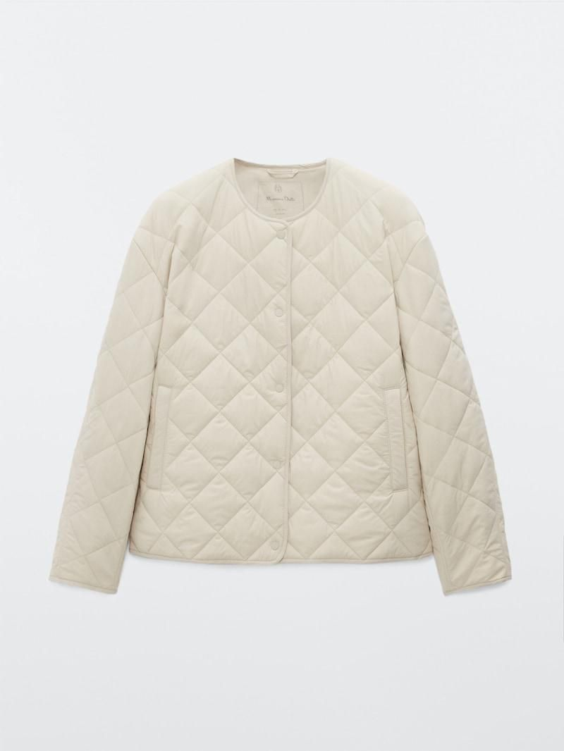 massimo dutti short quilted jacket