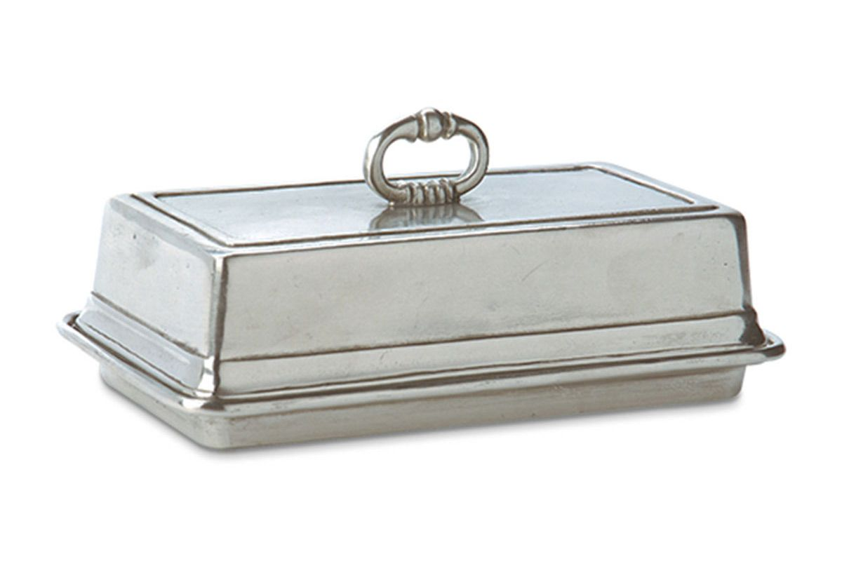 match covered butter dish