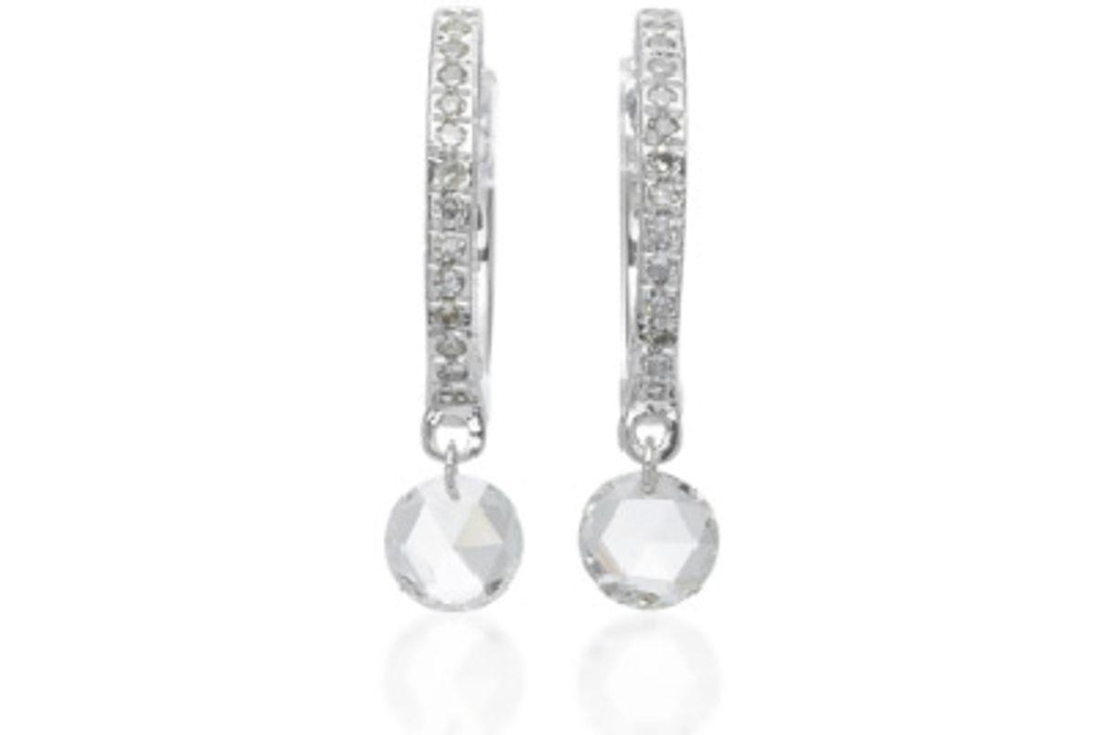 14K White Gold Hoop Earrings