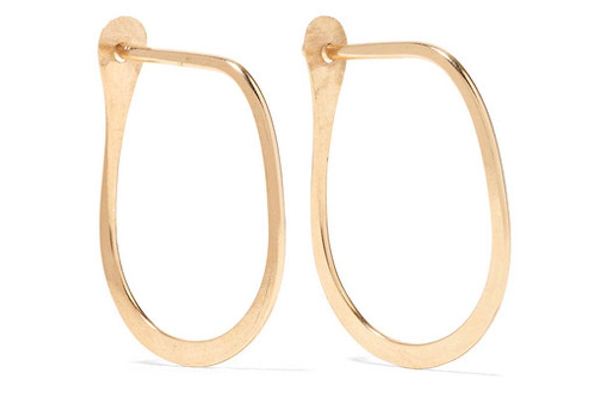 melissa joy manning teardrop 14 karat gold hoop earrings