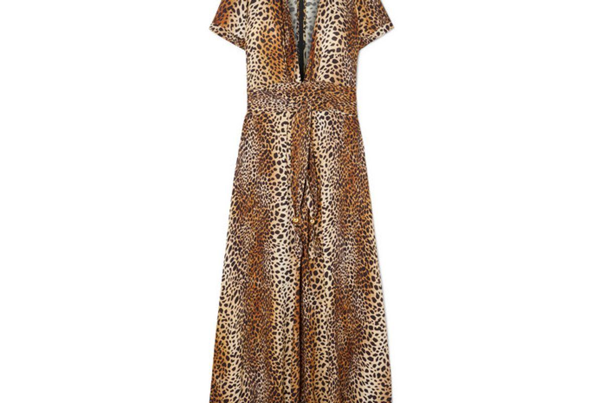 melissa odabash lou leopard print georgette maxi dress