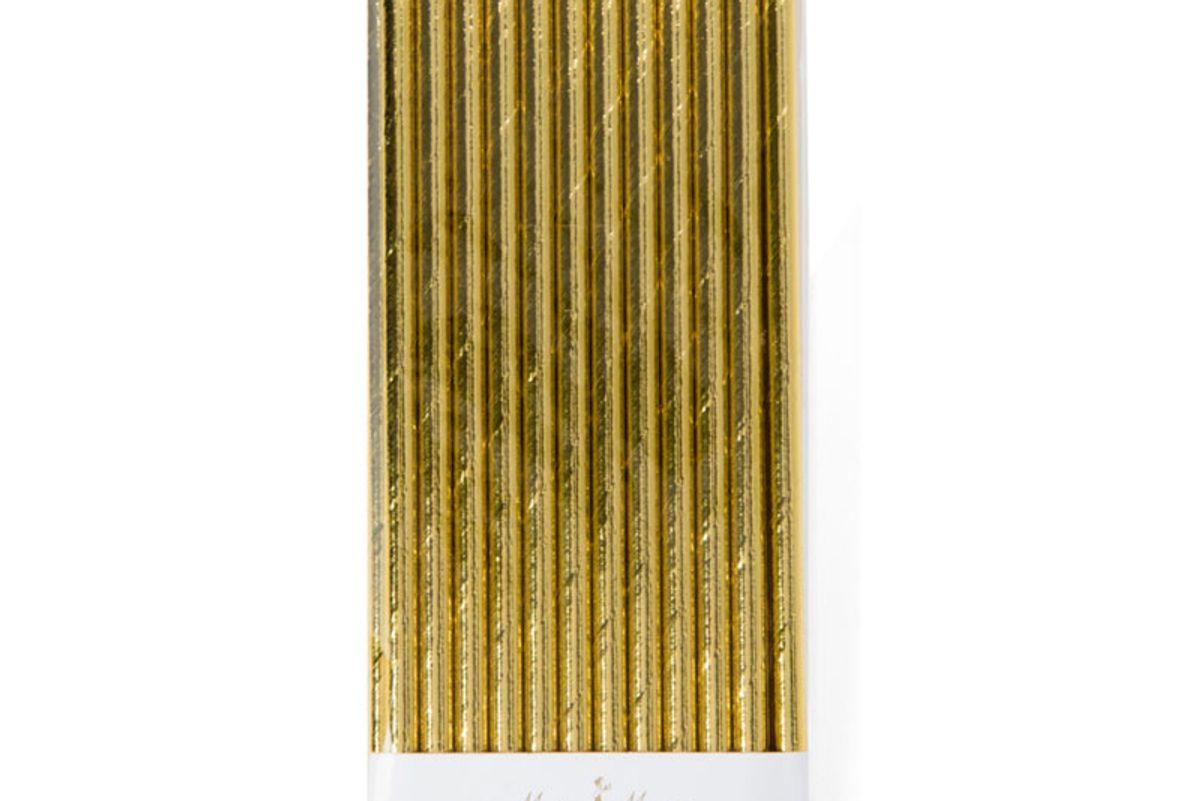 Gold Foil Straws