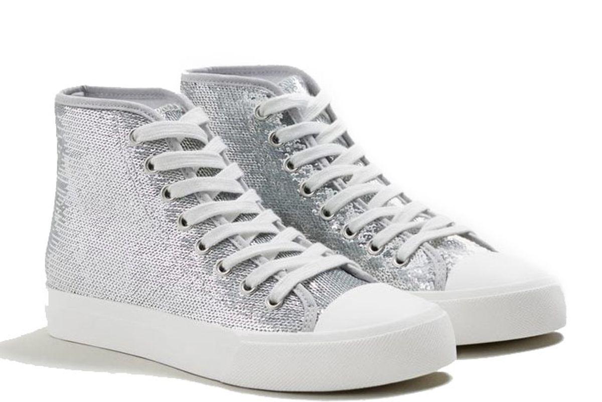 Metallic Sequins Sneakers