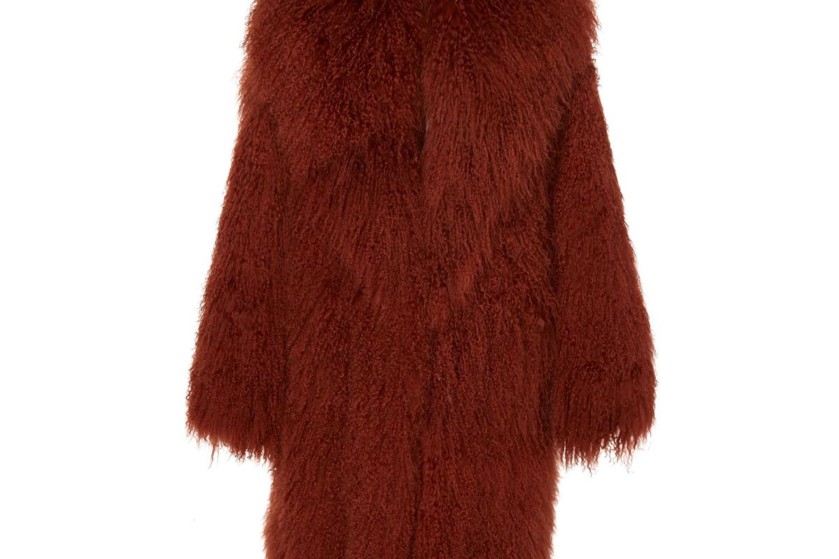 michael kors collection mongolian coat