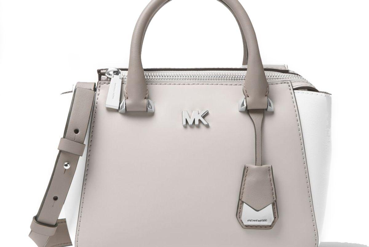 michael michael kors nolita mini color-block leather crossbody bag