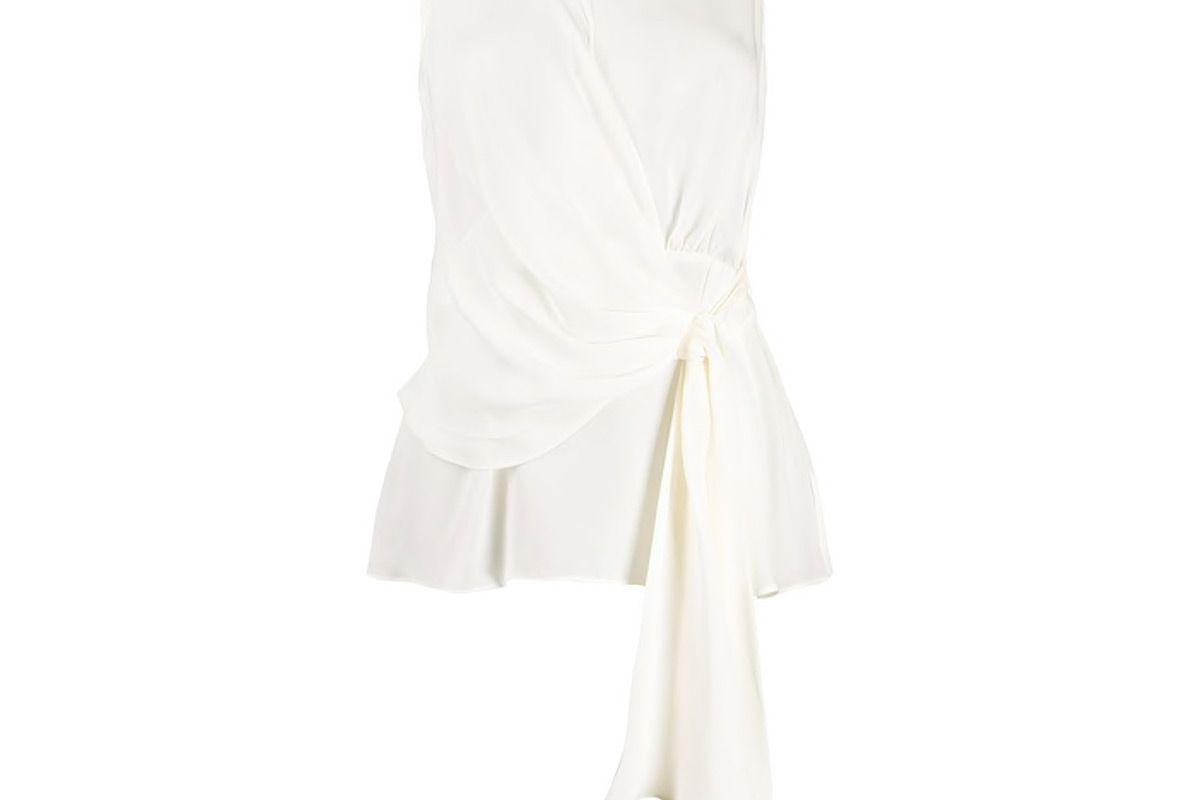 michael michael kors chain detail silk blouse