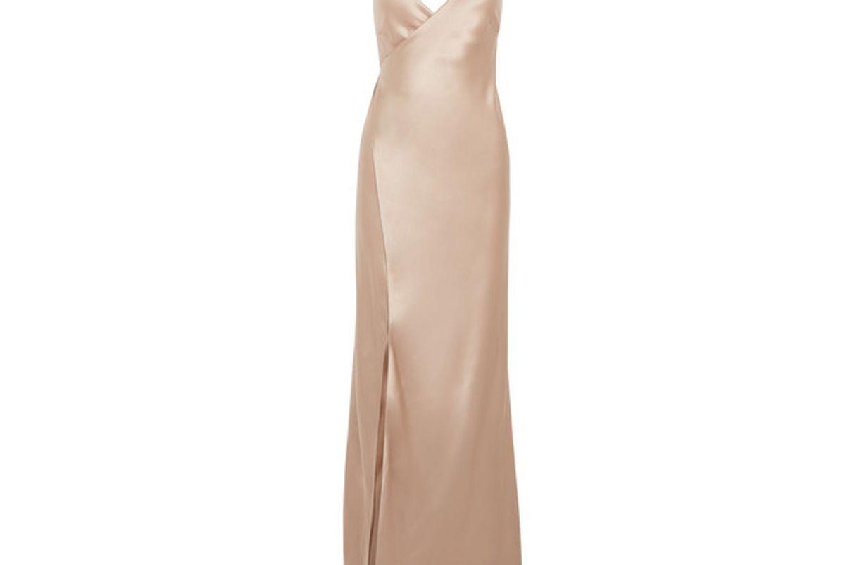 Silk-satin Wrap Gown