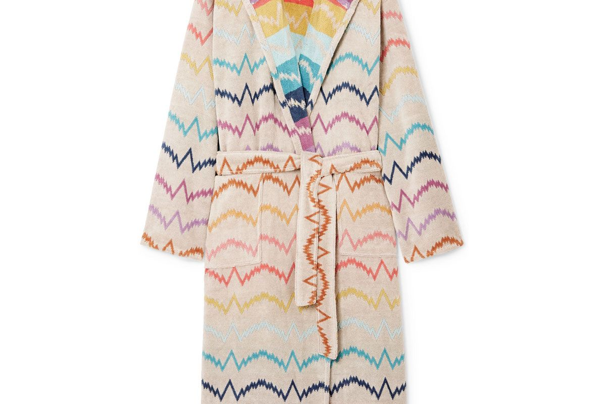 missoni home vera hooded cotton terry robe