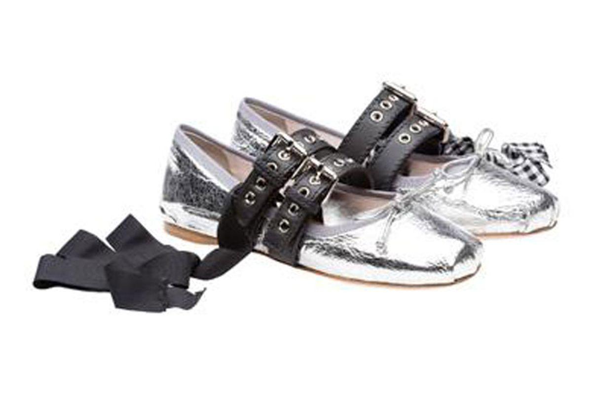 Silver Ballerina Shoes