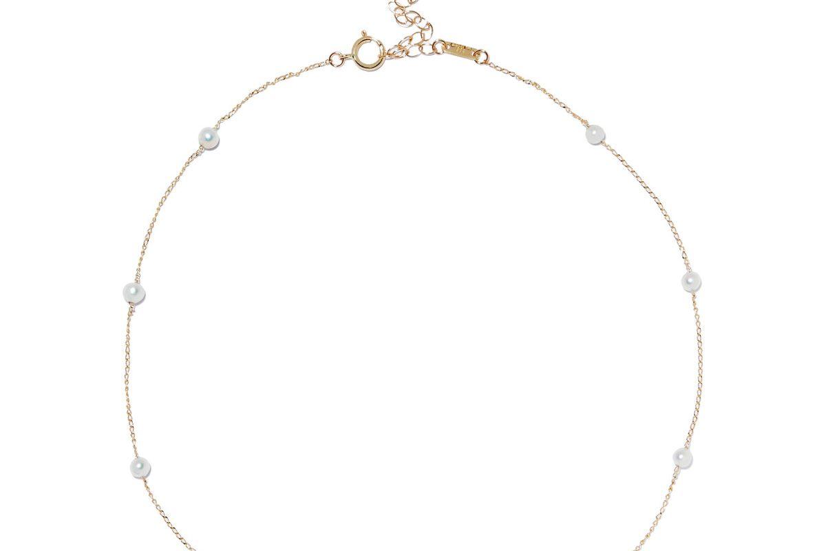 14-Karat Gold Pearl Choker