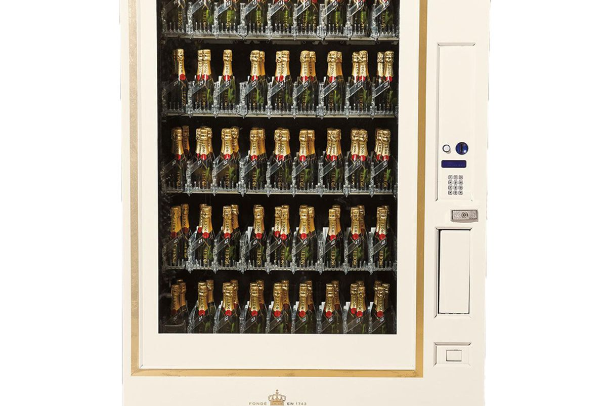 moet and chandon champagne vending machine