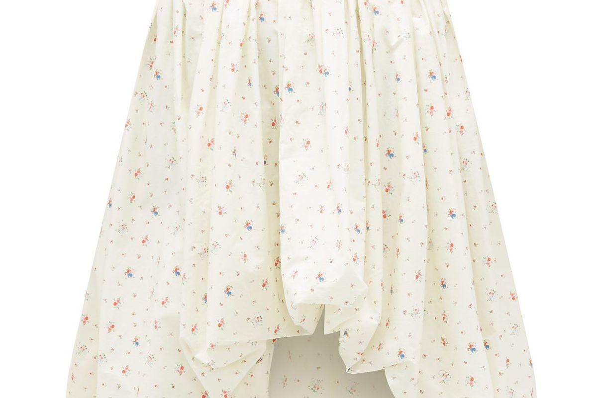 molly goddard britta floral print cotton poplin puffball skirt