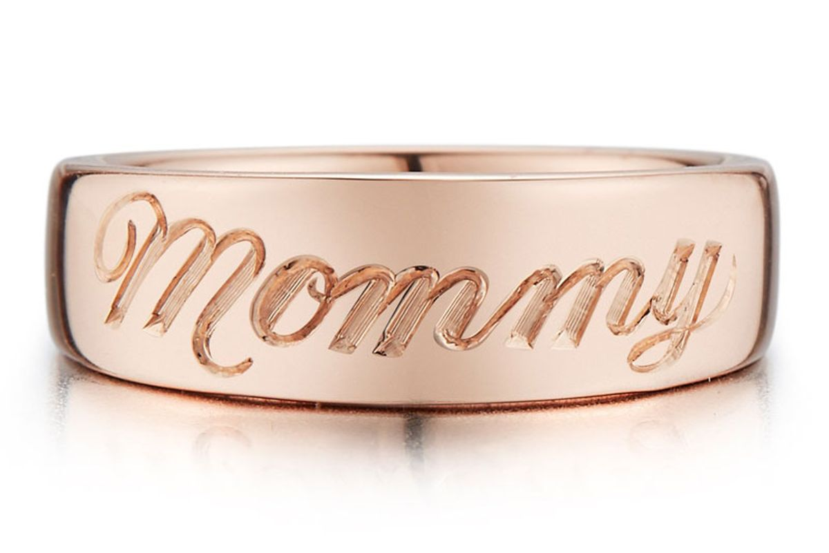 """Engraved """"Mommy"""" Pinky Ring"""